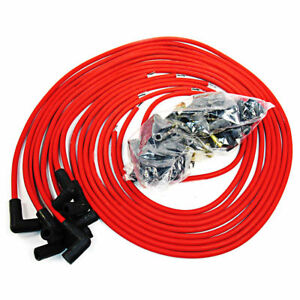 9 5 Mm Red 90 Degree Spark Plug Wires For Distributor Chevy Bbc Sbc Sbf 302 350