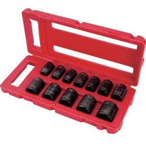Craftsman 6 Point Easy to read Dual mark Metric Impact Socket Set