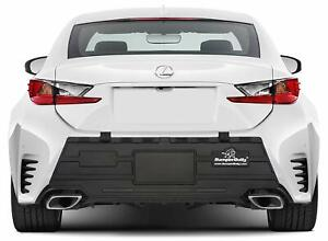Black Car Bumper Guard Protector For Rear Trunk Rubber Pad Cover Black Largest