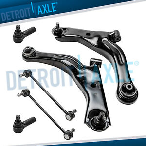 05 09 Ford Escape Mazda Tribute Mariner 6pc Front Lower Control Arm Tie Rod Kit
