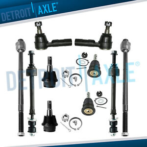 10pc Front Tie Rod Ball Joint Sway Bar Link 2006 2008 Dodge Ram 1500 5 Lug 4x4