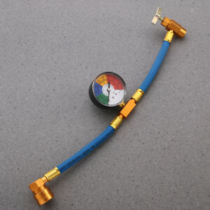 R134a Recharge Measuring Hose A C Refrigerant Charging Pipe Hot W Gauge Adapter