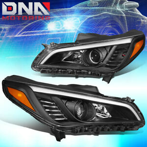 For 03 06 Silverado avalanche dual U halo Chrome Clear Headlight bumper Light