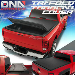 For 02 16 Ram 6 5 Tri fold Adjustable Black Tonneau Cover Soft Top Trunk Cover