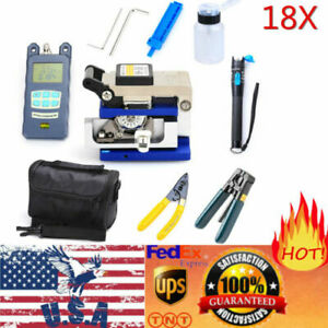 Fiber Optic Ftth Tool Kit Fc 6s Fiber Cleaver Power Meter Finder Plier With Bag