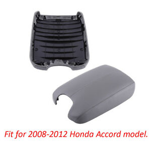 Gray Fit 08 12 Honda Accord Model Armrest Center Console Lid Cover With Base