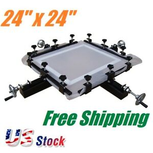 High Precise 24 x 24 Manual Screen Stretching Machine Screen Printing Stretcher