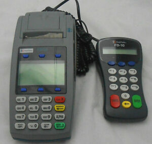First Data Fd50 Dual Comm Fd 10 Pin Pad Terminal Reader Without Power Adaptor