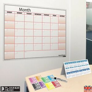 Month Planner Laminated home office Wall reusable any Month year free Gift