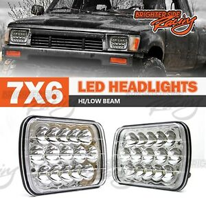 Fits Ford 7x6 H6054 H6052 H6014 H4 Chrome Clear High Low Beams Led Headlights