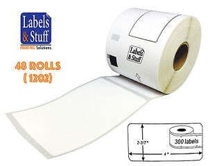 48 Rolls Of Dk 1202 Brother compatible Shipping Labels Dk1202