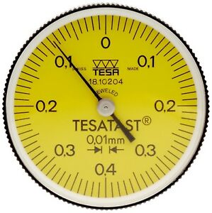 Brown Sharpe Tesa Tesatast Dial Test Indicator End Mounted 0 0 8mm 0 01mm