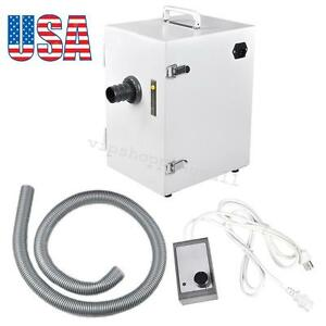 370w Dental Laboratory Single Row Dust Collector Vacuum Cleaner Us Stock White