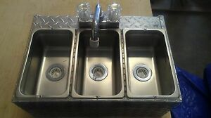 3 Compartment Sink Ready To Install Hot Dog Cart Food Truck Or Trailer