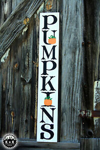 Large Rustic 3ft Wood Sign Pumpkins Fall Harvest Thanksgiving Primitive Porch