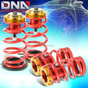For 12 15 Civic 1 4 Adjustable Suspension Coilover Sleeve Kit W red Spring
