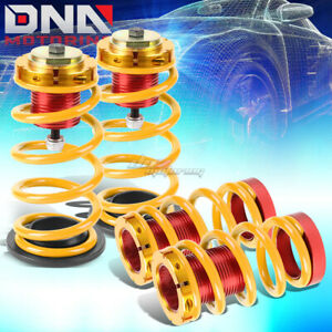 For 12 15 Civic 1 4 Adjustable Suspension Coilover Sleeve Kit W gold Spring