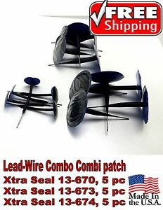 Xtra Seal Lead Wire Combo 15 Pc Total Combination Tire Plug Patch Repair 3 Sizes