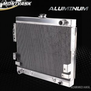 All Aluminum Racing Radiator For 1975 1978 Ford Mustang Ii 5 0l V8 Stamp Tank 76