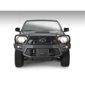 Fab Fours Tt12 B1650 1 Front Winch Bumper W Grill Guard Black For 12 15 Tacoma