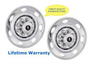 16 Trailer Truck Wheel Hubcap Rim Covers Bolt On Over Lugs Steel Set Of 2