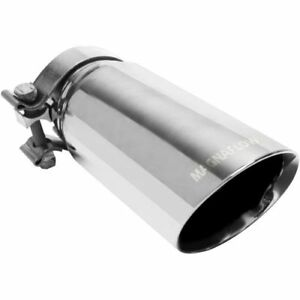 Magnaflow 35210 Stainless Steel 2 5 In 3 5 Out Clamp On Single Exhaust Tip