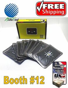 Dual Cure Square Booth Radial Tire Repair Patch 3 X 5 Box Of 10 Taitec Tnra 12