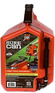 Surecan Sur50g1 5 Gallon Gas Gasoline Can W Rotating Flex Spout