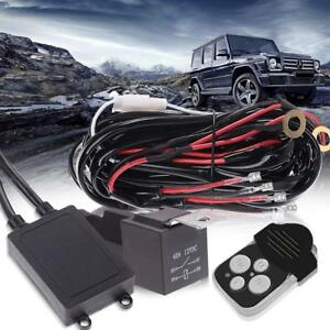 Atv Off Road 18w 300w Led Light Bar Wiring Harness Kit 12v 40a Waterproof Switch