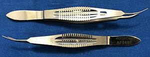 Accutome Moody Fixation Forceps 0 5mm Tip Left Reference Af2450 Lot Of 2