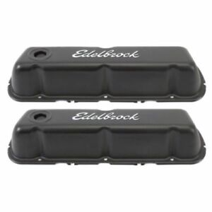 Edelbrock 4603 Signature Series Valve Covers 3 7 For Ford 260 302