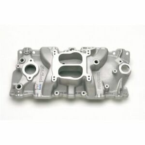 Edelbrock 3701 Performer Intake Manifold For 1955 86 Small Block Chevy 262 400