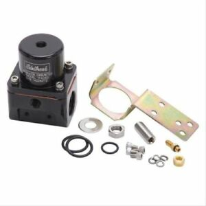Edelbrock 174053 Fuel Pressure Regulator Carb 180 Gph inlet outlet 10an Black