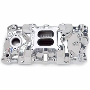 Edelbrock 71014 Performer Rpm Intake Manifold Endurashine For S B Chevy 262 400