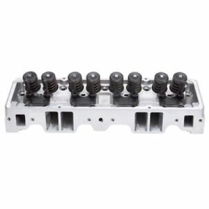 Edelbrock 60909 Cylinder Head Single Performer Complete For S B Chevy 64cc
