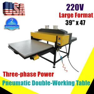 9kw Pneumatic Large Format Heat Press Machine For T shirt Printing 1000x1200mm