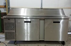 Randell Commercial Sandwich Prep Cooler fridge Model 9045k 7 With Custom Top