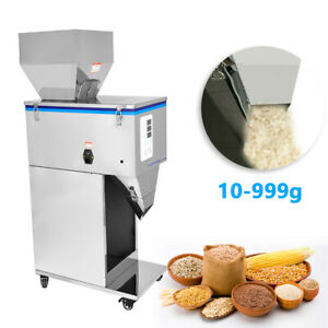 Automatic Powder Racking Filling Machine Weigh Filler For Tea Seed Grain 10 999