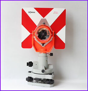 New Red Single Prism Set For Sokkia nikon pentax topcon Total Stations Surveying