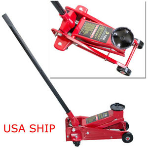 3 Ton Low Profile Aluminum Racing Car Auto Floor Jack 6000 Lbs Lowrider Steady