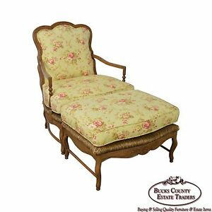 Calico Corners French Country Bergere Lounge Chair W Ottoman
