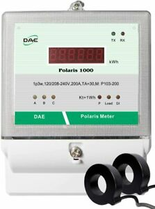 Dae P103 200 s Kit Ul Electric Kwh Submeter 1p3w 200a 120 208 240v 2cts