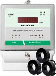 Dae P204 200 s Kit Ul Listed Electric Kwh Submeter 3p4w 200a 120 208v 3 Cts
