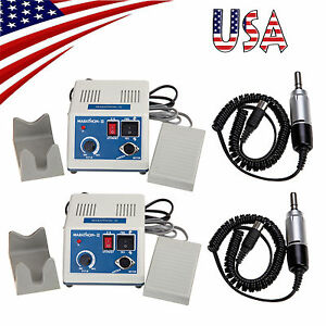 Us 2x Dental Electric Lab Marathon Micromotor Polishing Unit 35k Rpm Motor E