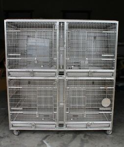 Allentown Lenderking Unifab Primate Housing Cage Stainless Steel Mobile