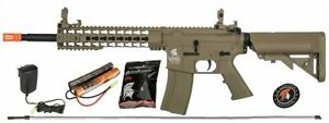 Lancer Tactical G2 M4 KEYMOD AEG Metal Gears Airsoft Gun Rifle w 9.6v TAN $169.00