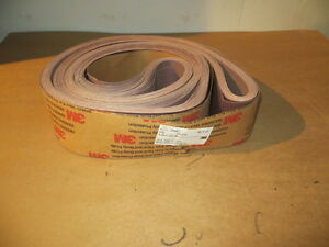 4 X 168 Resin Bond Cloth Sanding Belts 180x Grit 20 Pcs 3m U s a New