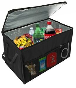 Car Trunk Organizer Insulated Storage Basket Auto Accessories