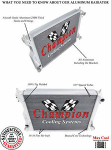 Champion 3 Row All Aluminum Dr Radiator For 2005 10 Ford Mustang