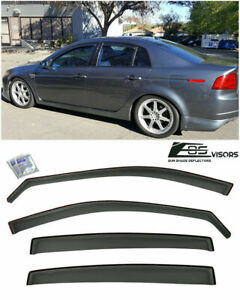 In Channel Window Visors For Acura Tl 2004 2008 4dr Sedan Smoke Vent Jdm Tape
